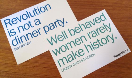 Technology recruiting postcards