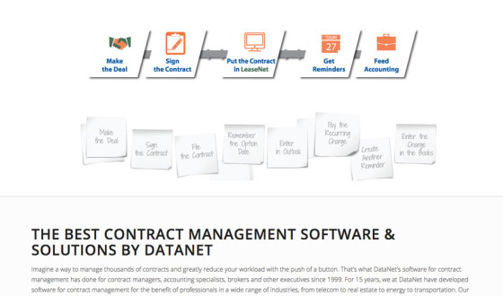 Datanet software customization site