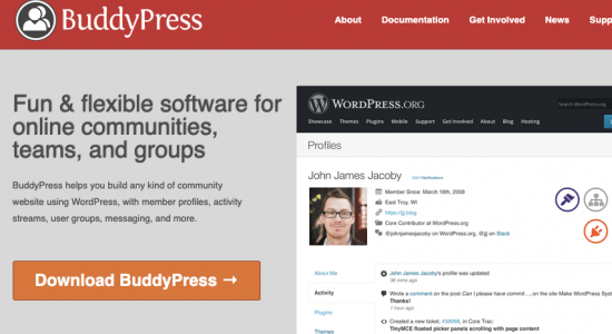 BuddyPress for building your social network