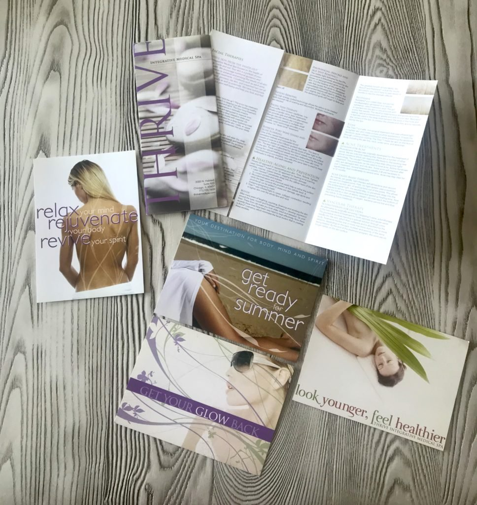 medical spa promotional materials