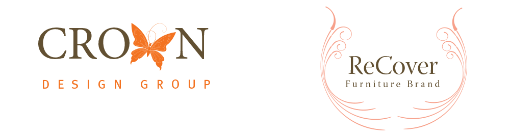 Crown Design Group interior design & furniture co logo designs