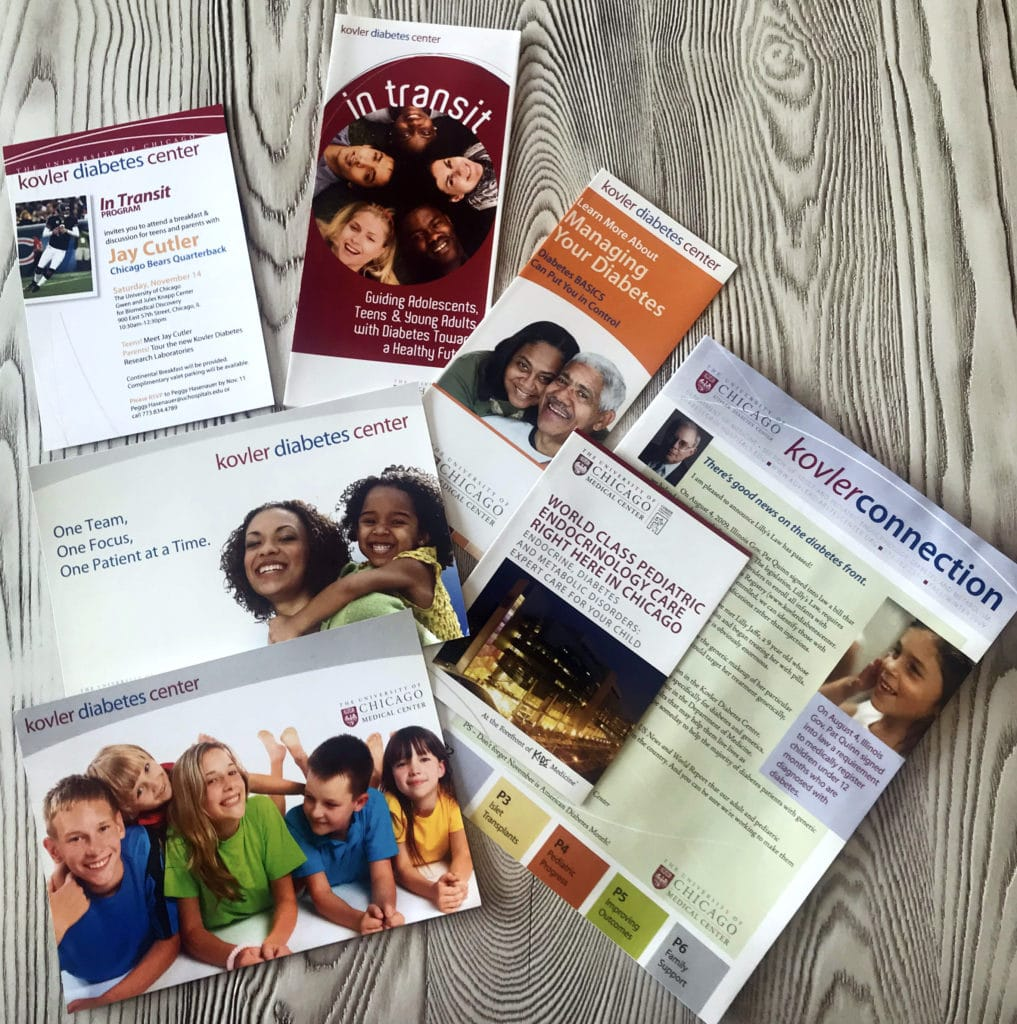 University of Chicago Kovler Diabetes Center print materials