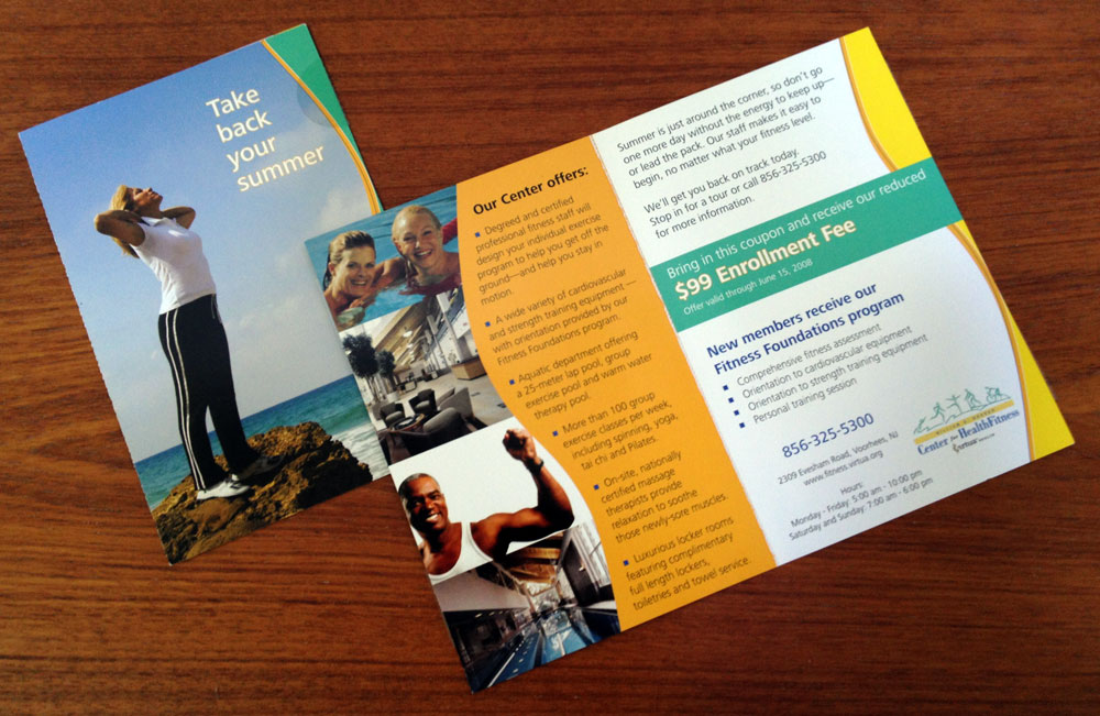 Fitness center direct mail