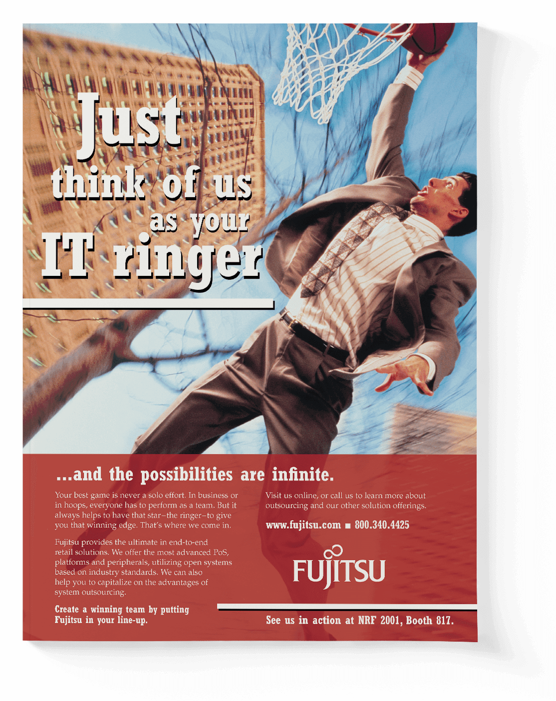 Fujitsu retail trade advertisement
