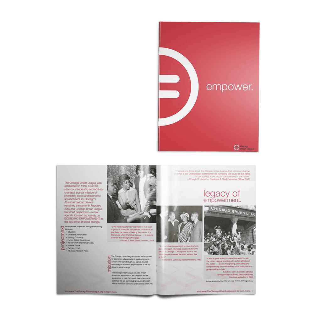 Chicago Urban League philanthropy brochure