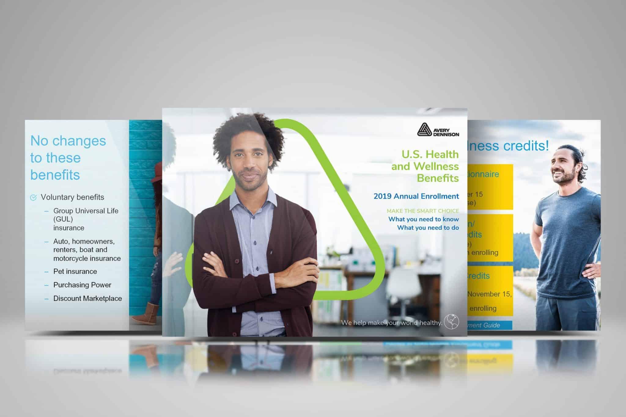 Avery Dennison Powerpoint + Brochure Conceptualizing