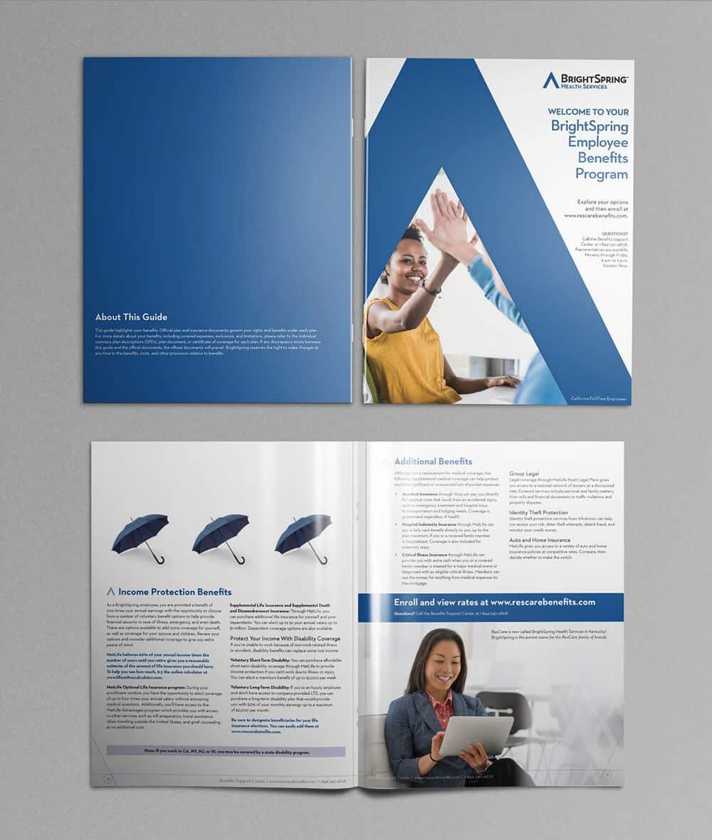 BrightSpring brochure conceptualization + production