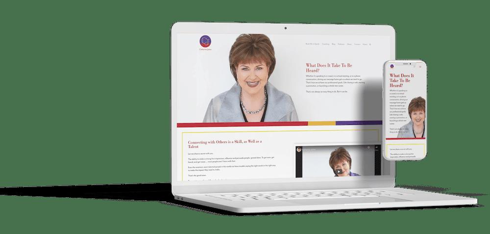 Catherine Johns website redesign