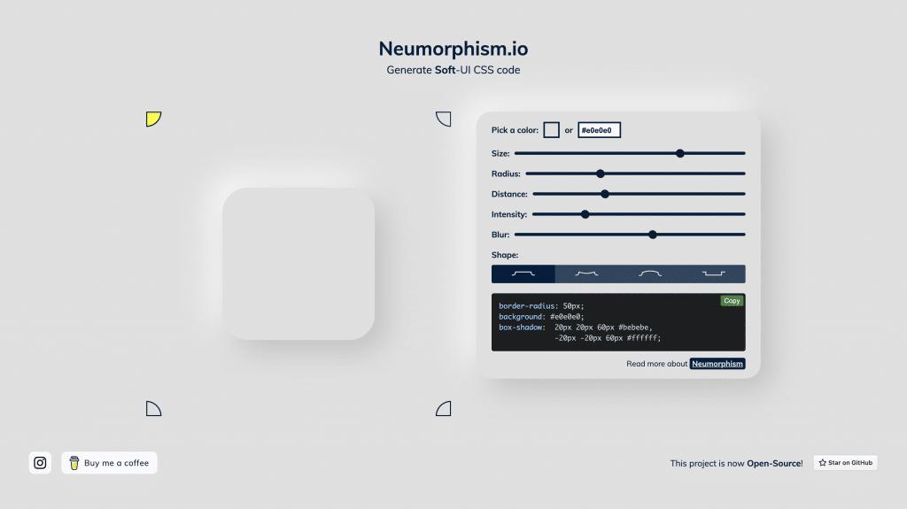 neumorphism example