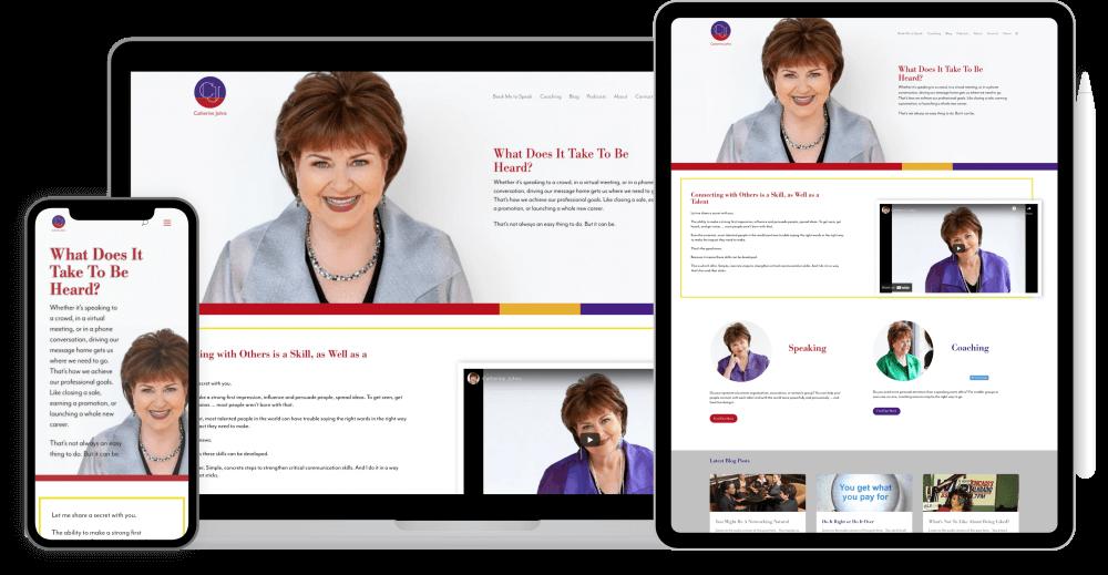 Speaker coach website redesign