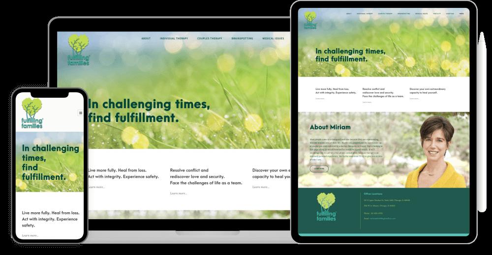 Therapist website redesign