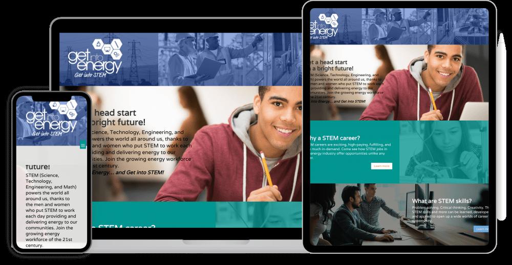 Get Into STEM website redesign