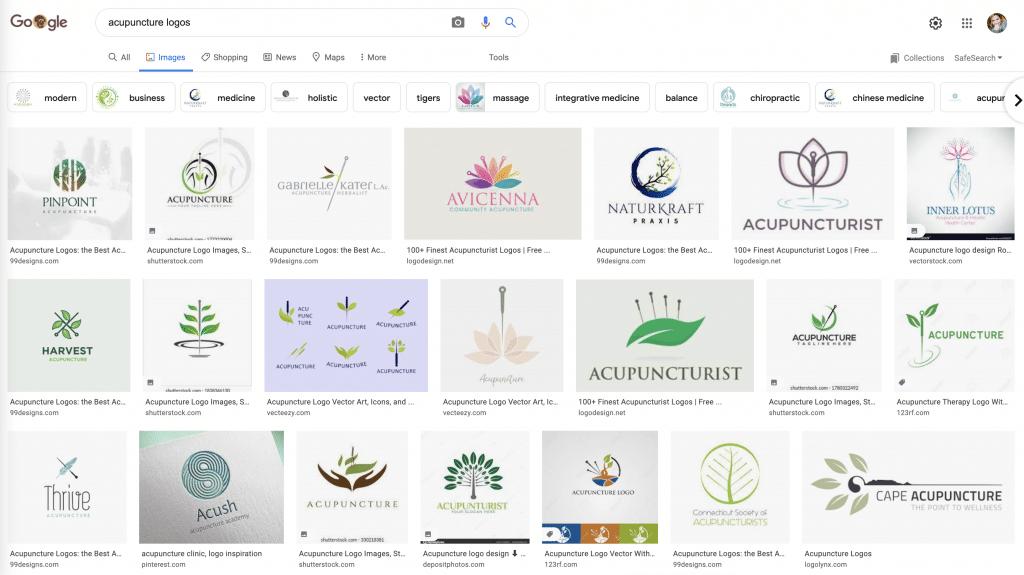 Acupuncture logos